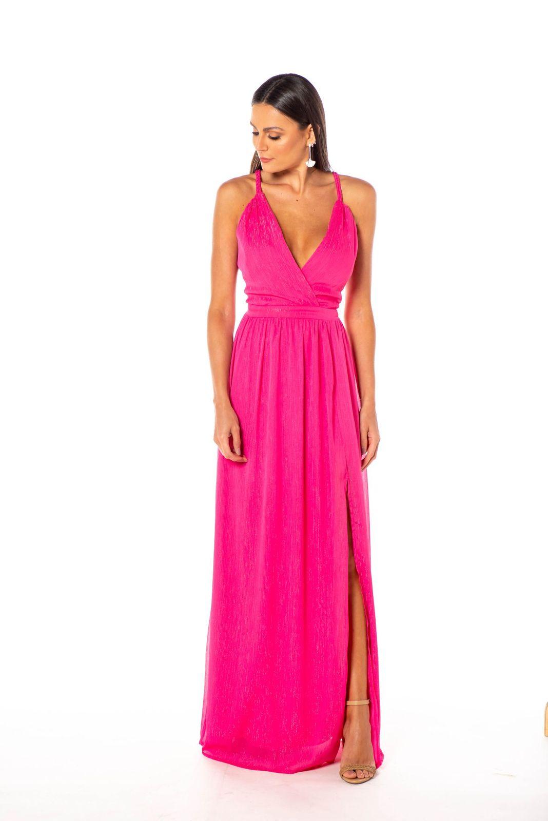 Vestido Libia Lurex Pink