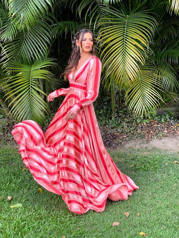 Vestido Los Angeles Bicolor Rosa