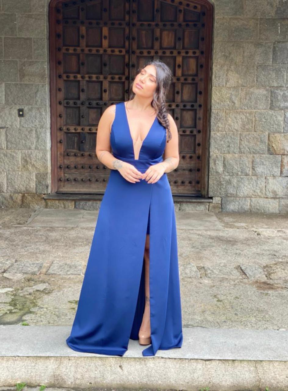Vestido Luanda Plus Size Marinho