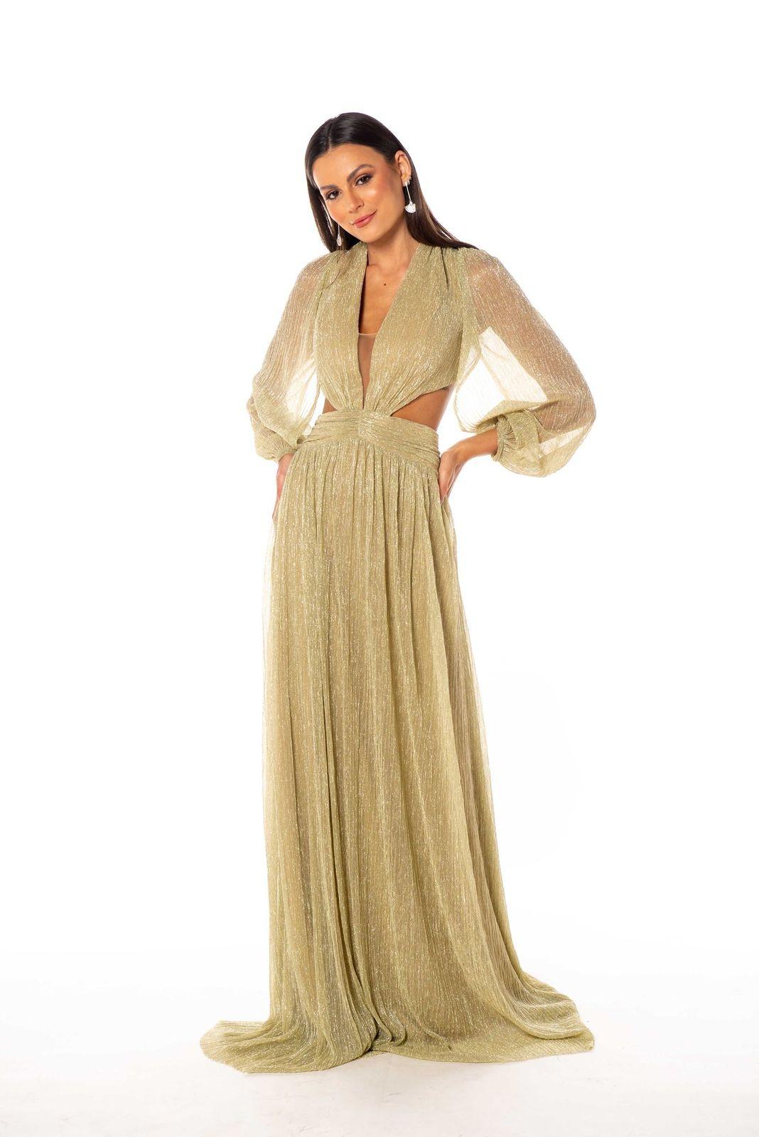 Vestido Malásia Dourado