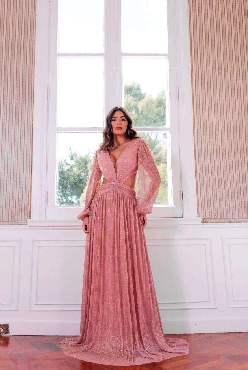 Vestido Malásia Rosé