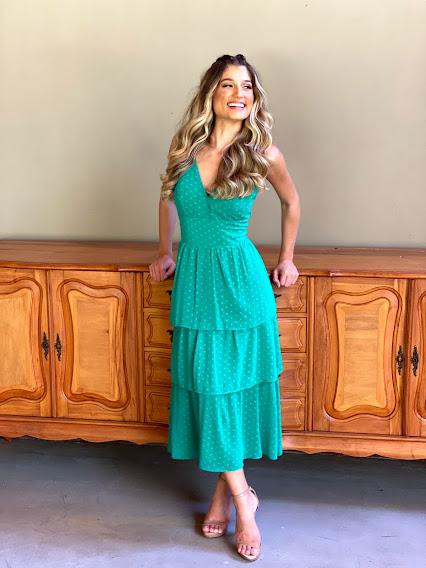 Vestido Mídi Santos Verde
