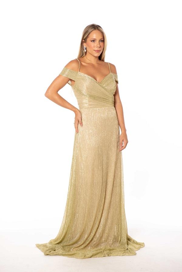 Vestido Montecarlo Dourado