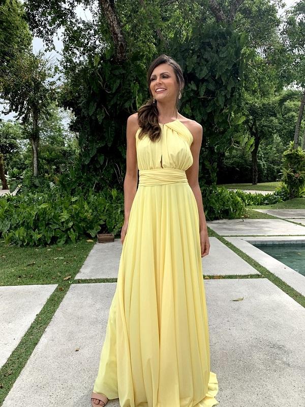 Vestido Multiformas Amarelo Único