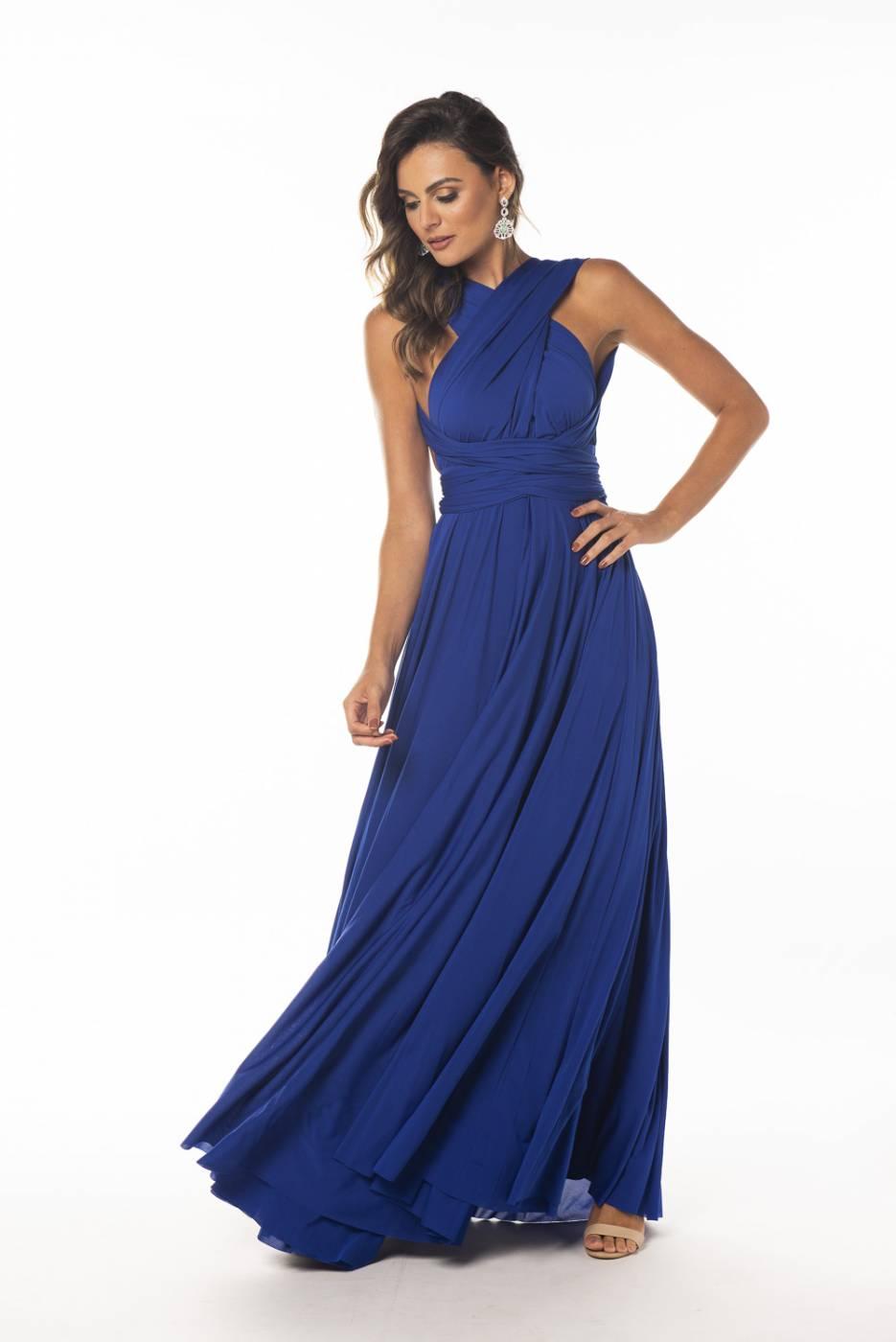 Vestido Multiformas Azul Bic