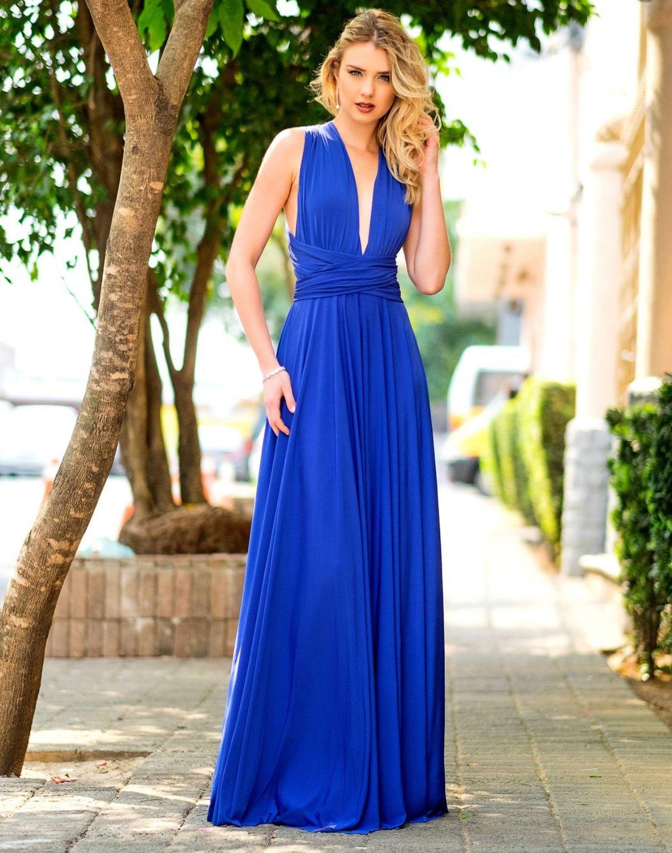 Vestido Multiformas Azul Bic Único