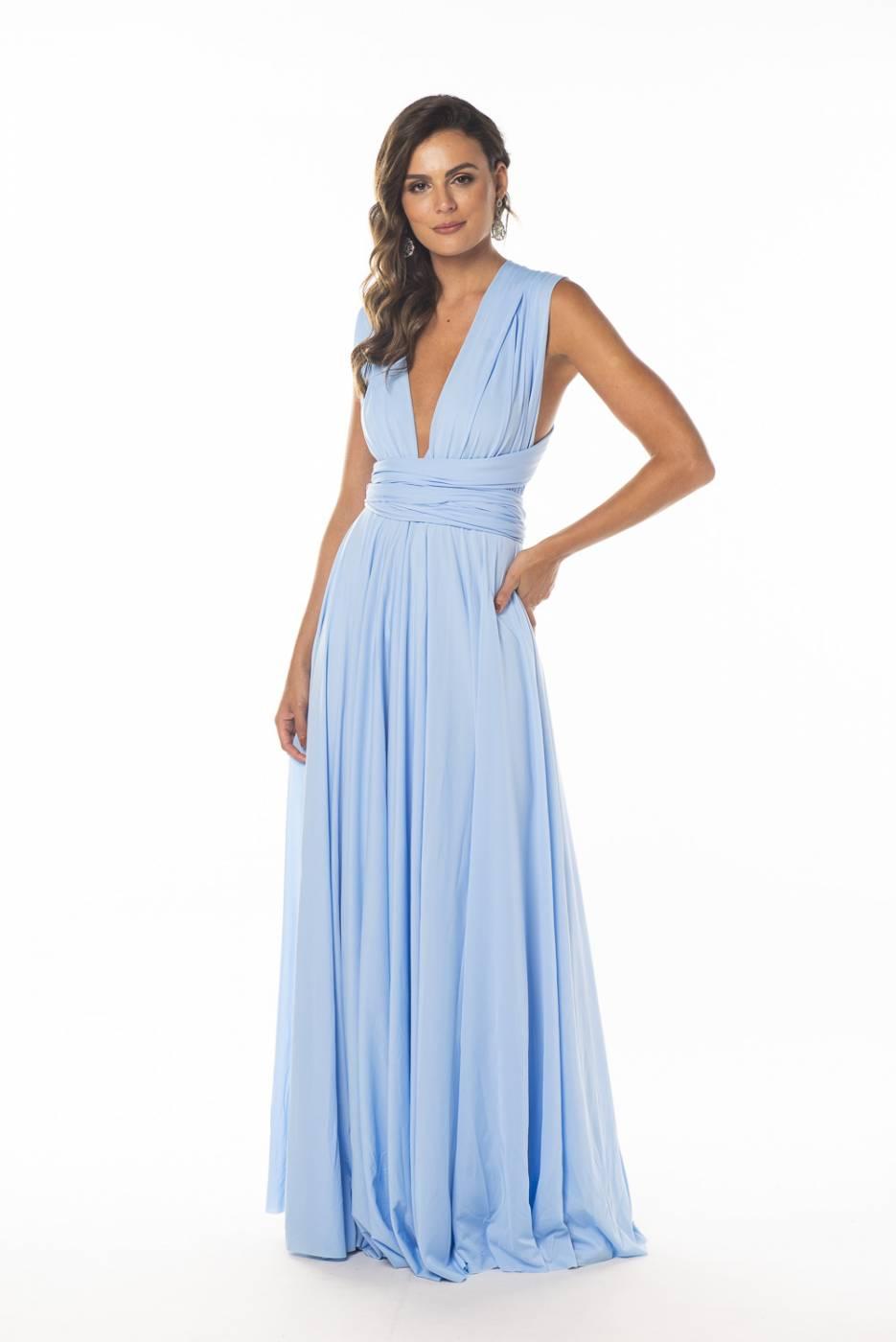 Vestido Multiformas Azul Serenity