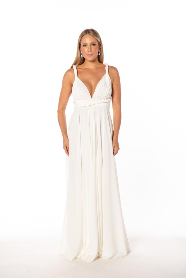 Vestido Multiformas Branco Único