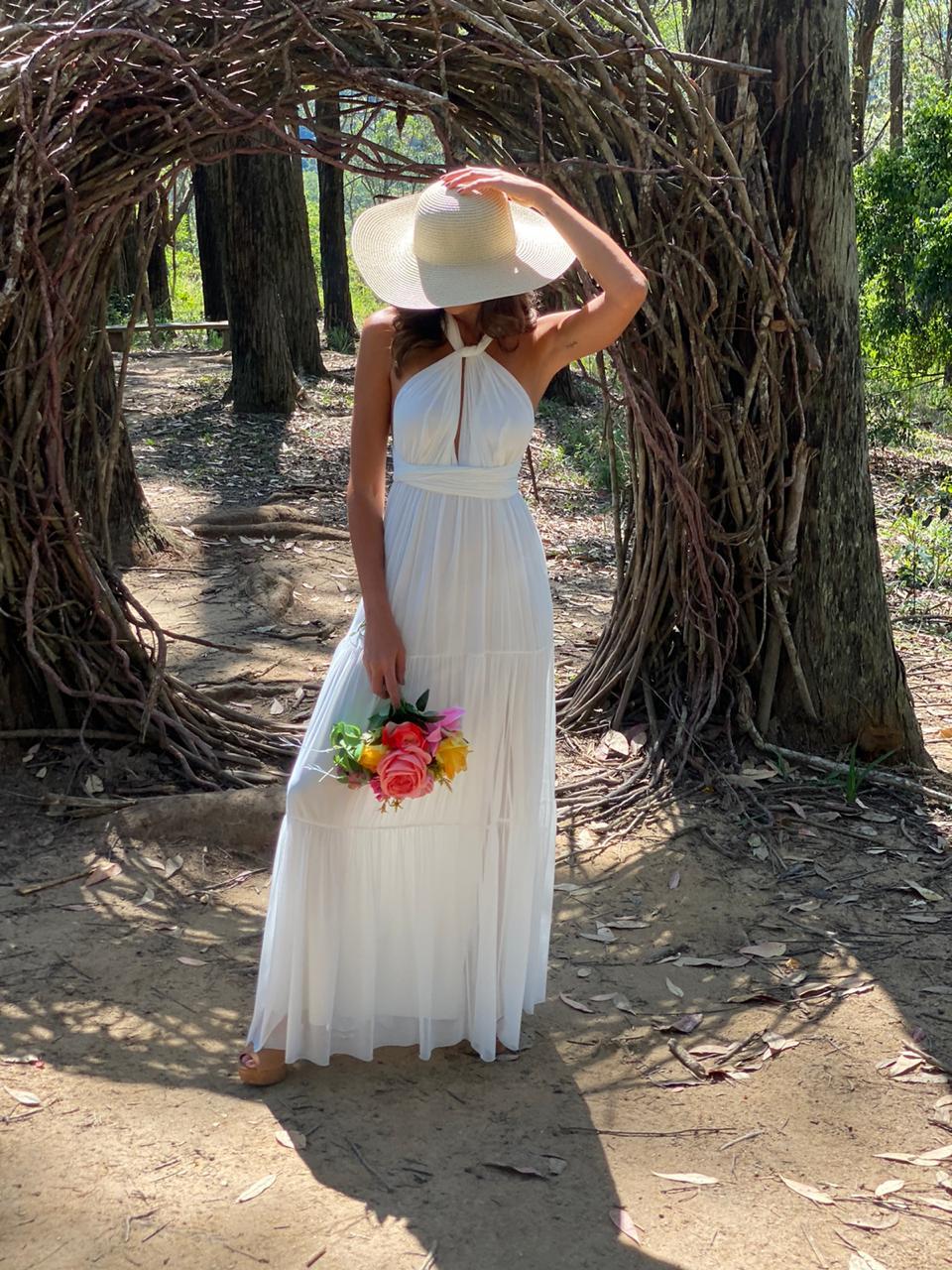 Vestido Multiformas Camadas Branco
