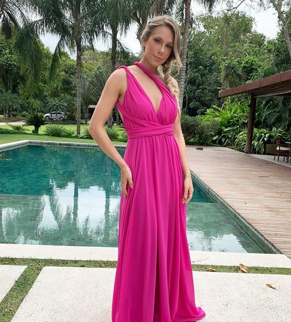Vestido Multiformas Chifon Pink