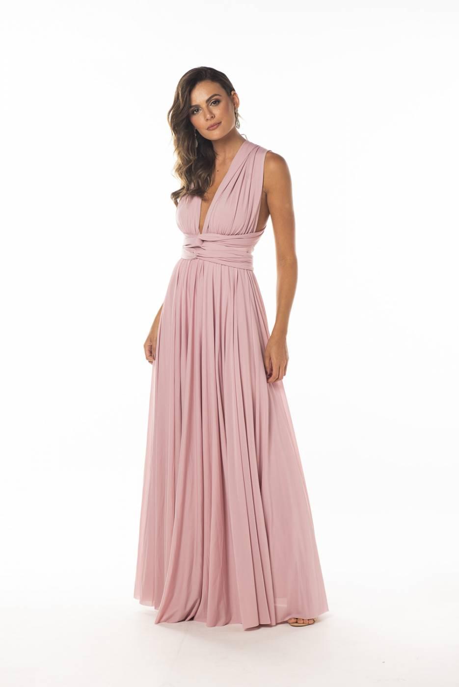 Vestido MultiFormas Rosé