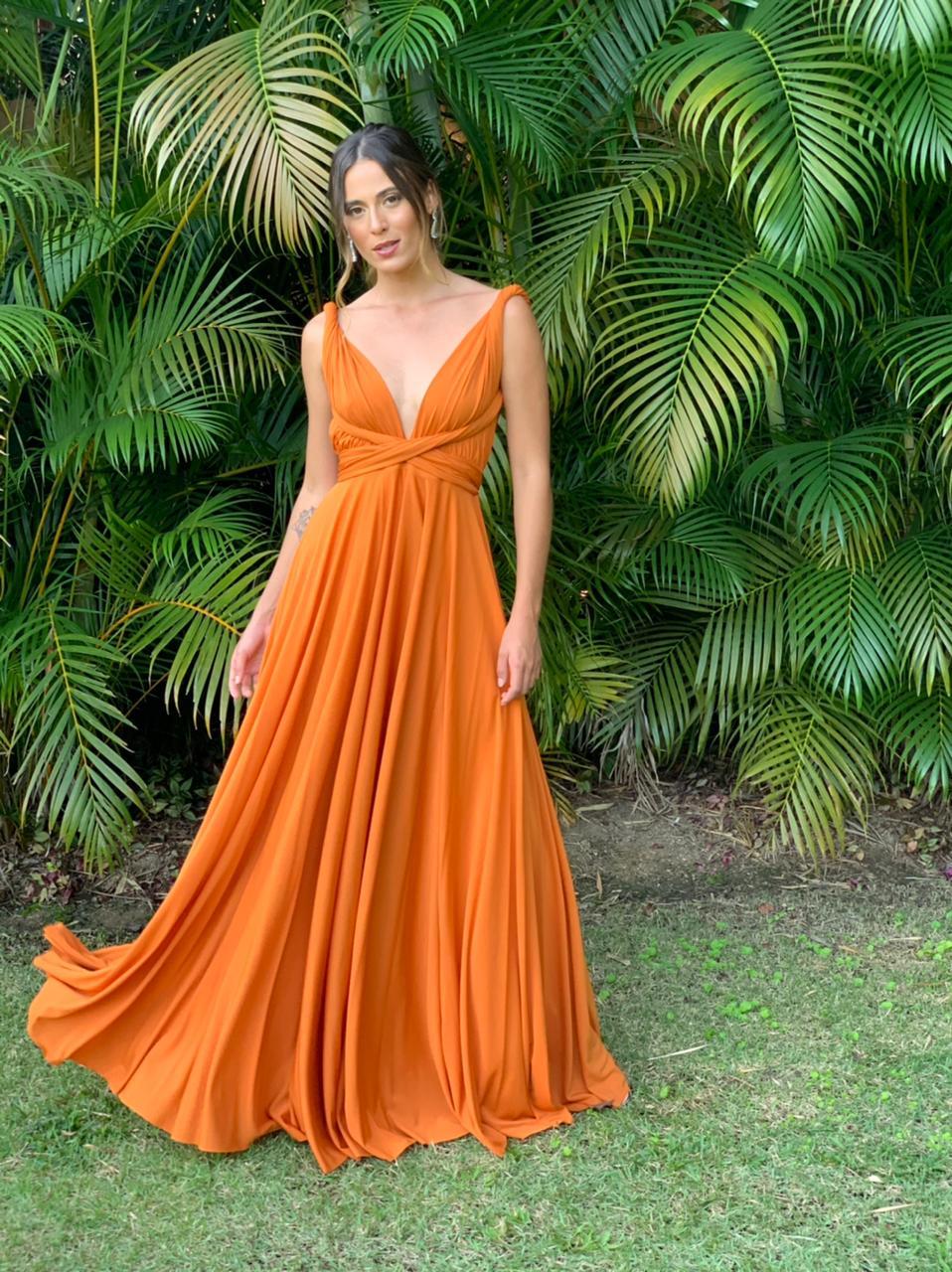 Vestido Multiformas Terracota