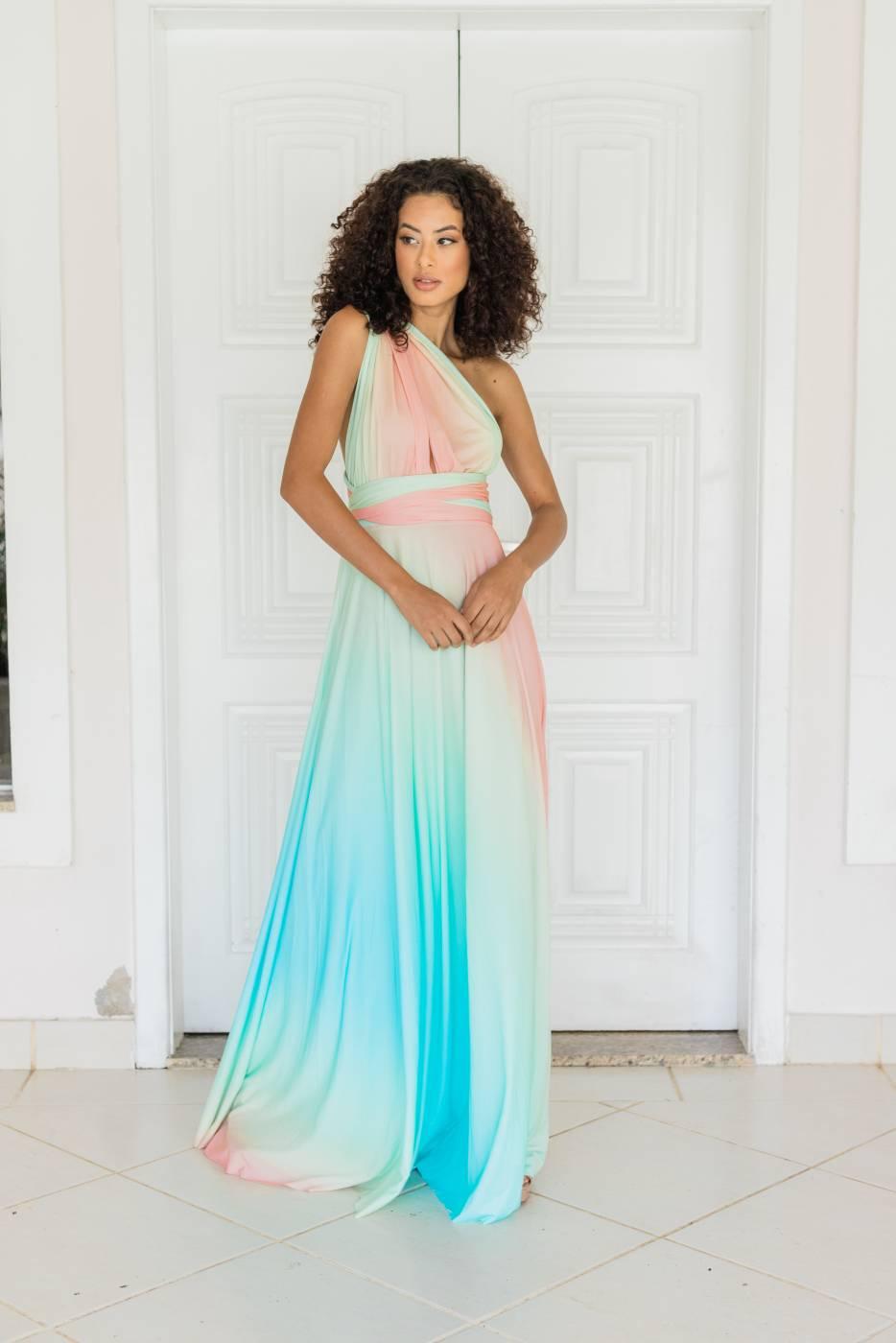 Vestido Multiformas Tie Dye