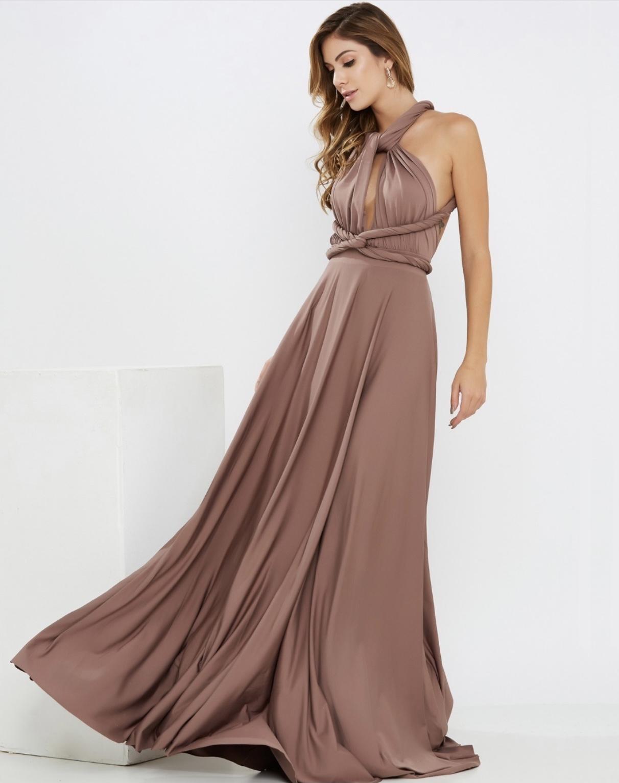 Vestido Multiformas Tijolo