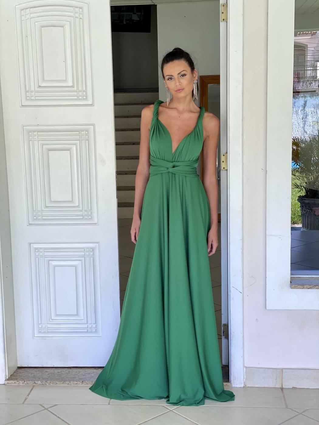 Vestido Multiformas Verde