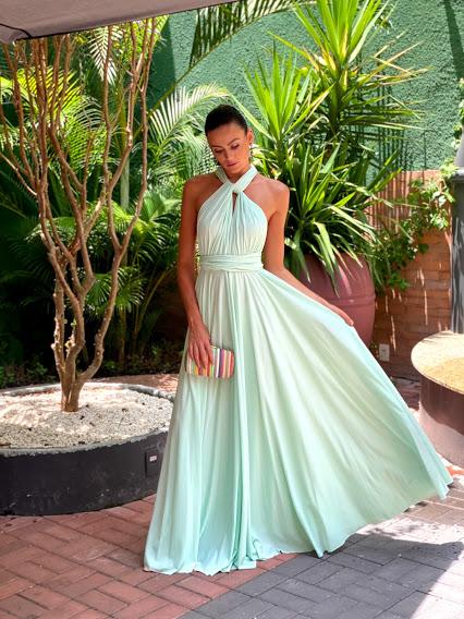 Vestido Multiformas Verde Menta
