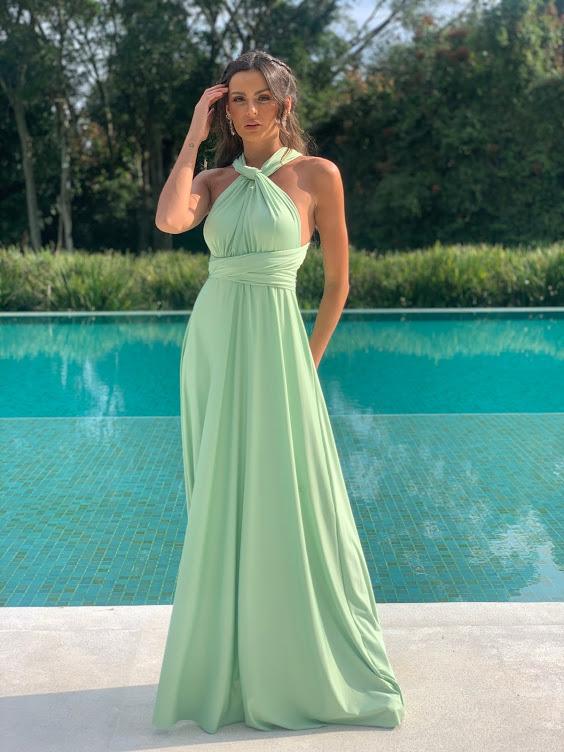 Vestido Multiformas Verde Pistache