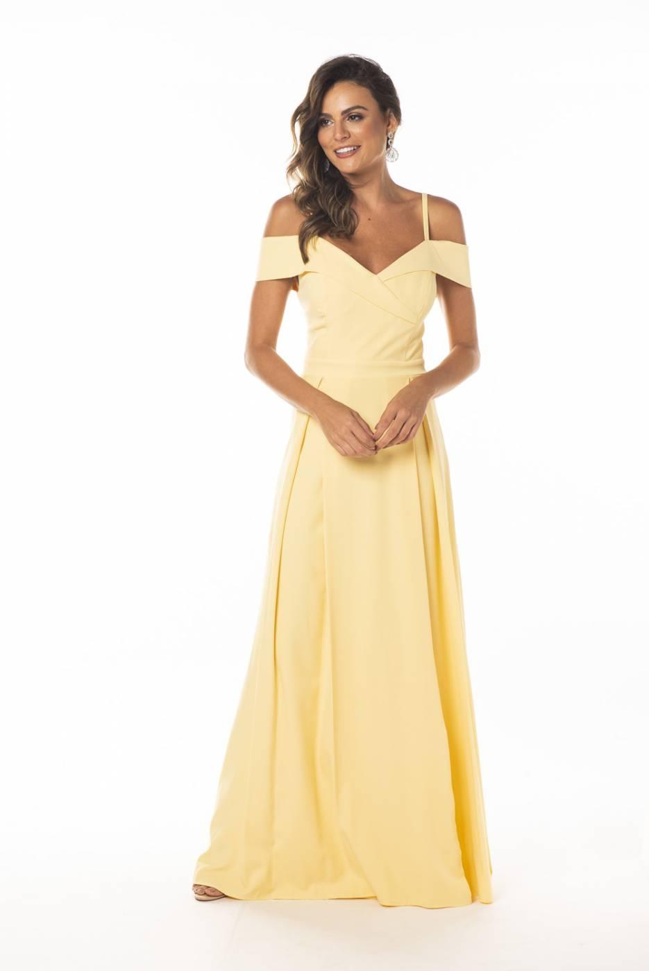 Vestido Nicarágua Amarelo Pastel