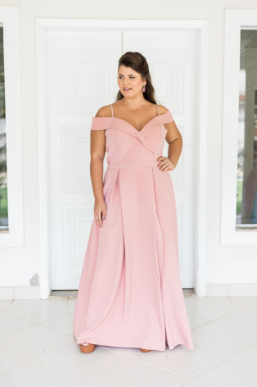 Vestido Nicarágua Plus Size Rosé