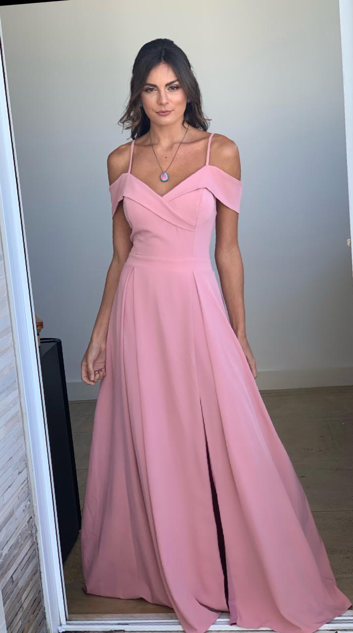 Vestido Nicarágua Rosa Antigo