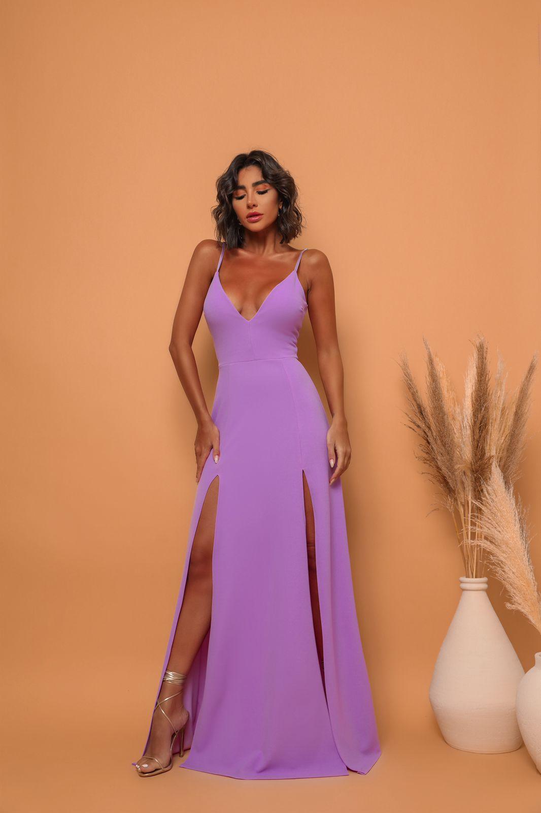 Vestido Panamá Lilás
