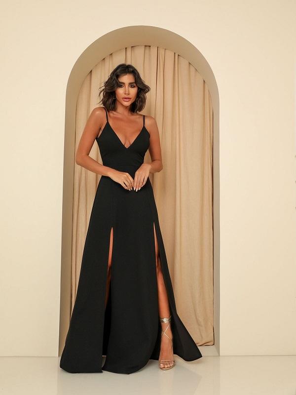 Vestido Panamá Preto