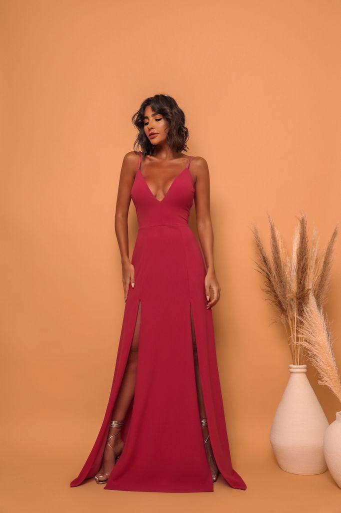 Vestido Panamá Vermelho