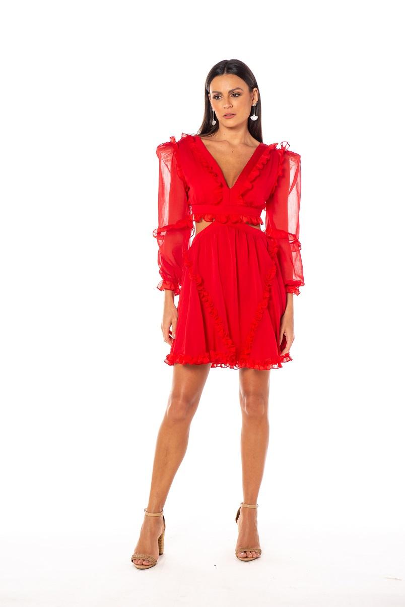 Vestido Porto Curto Vermelho
