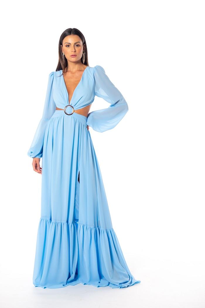 Vestido Russia Azul Serenity