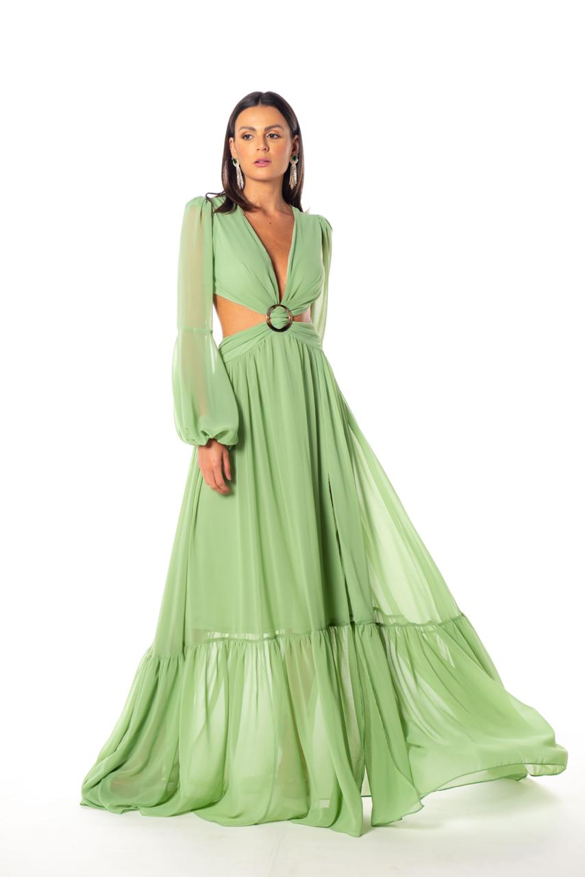 Vestido Russia Verde Menta