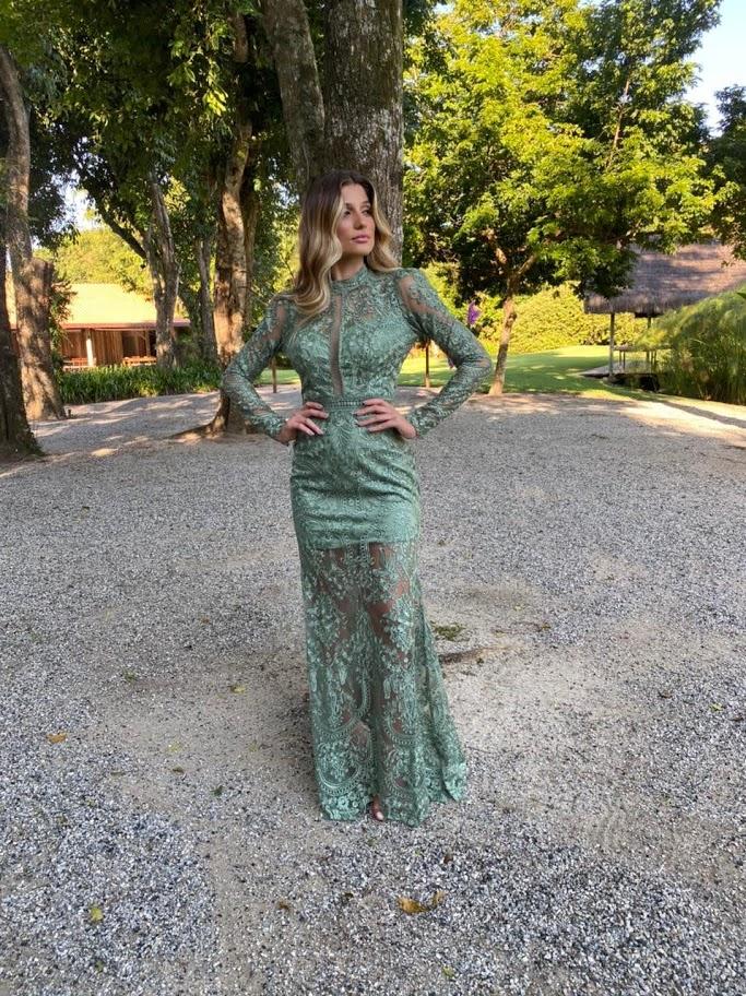 Vestido Salvador Verde Menta