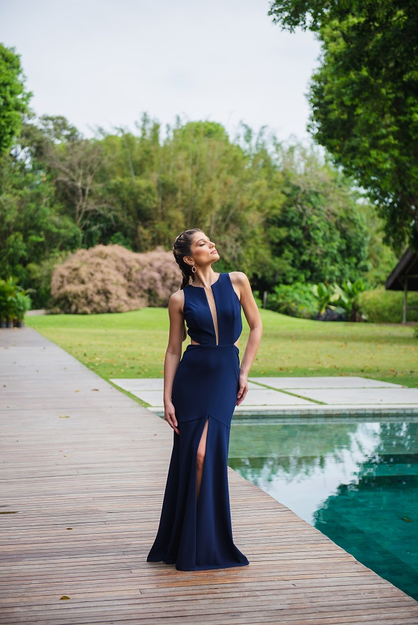 Vestido San Andres Azul Marinho