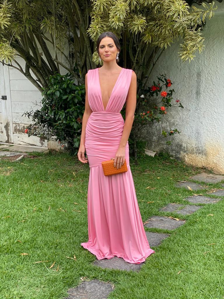 Vestido São Luiz rose