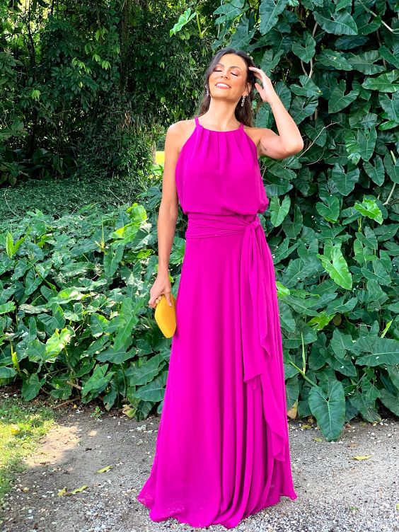 Vestido Sevilha Fúcsia