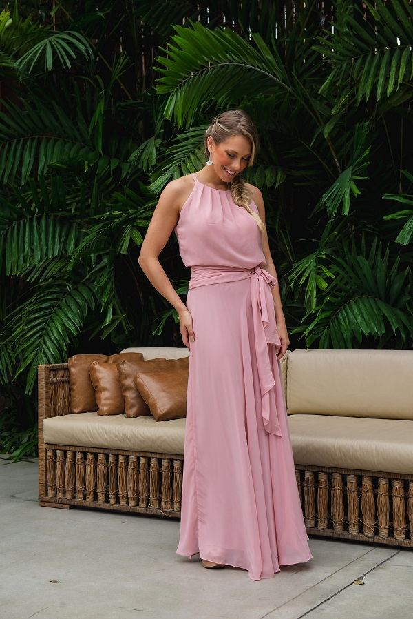 Vestido Sevilha Rosé