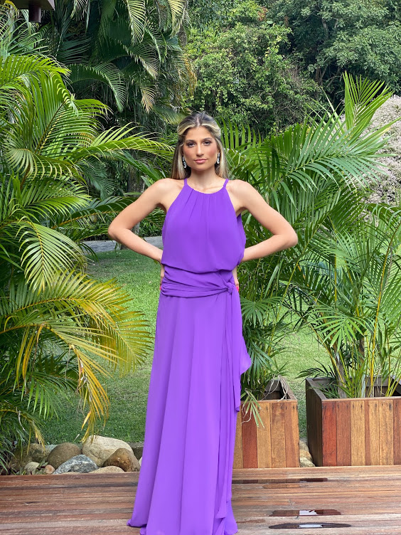 Vestido Sevilha Roxo