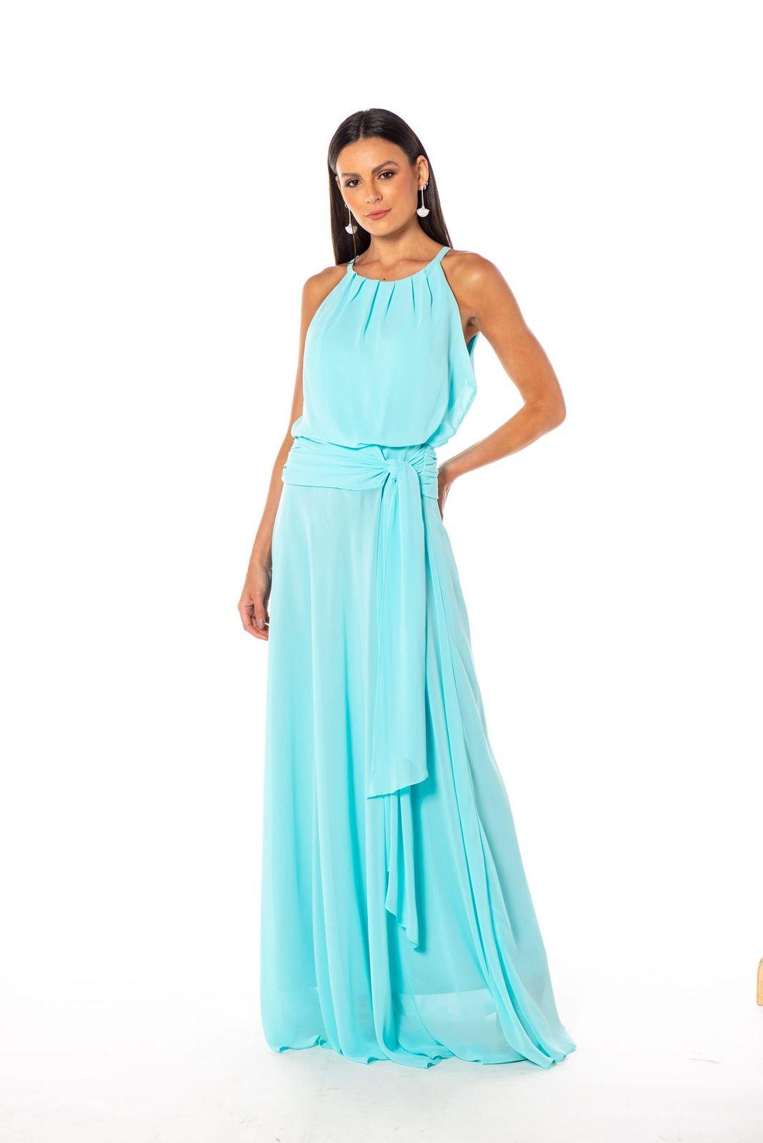 Vestido Sevilha Azul Céu