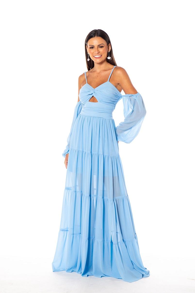 Vestido Sidney Azul Serenity