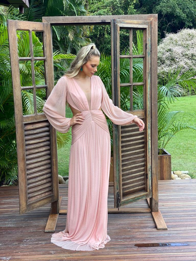 Vestido Singapura Rosé