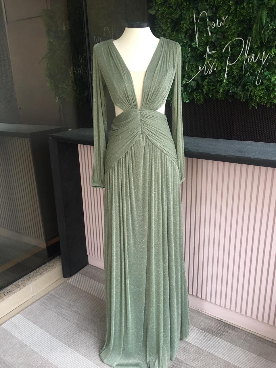 Vestido Singapura Verde Oliva
