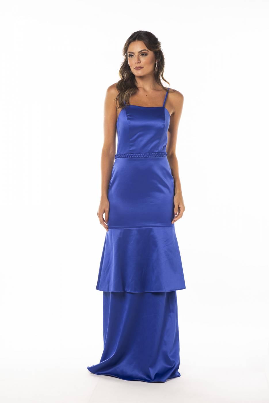 Vestido Suiça Azul bic