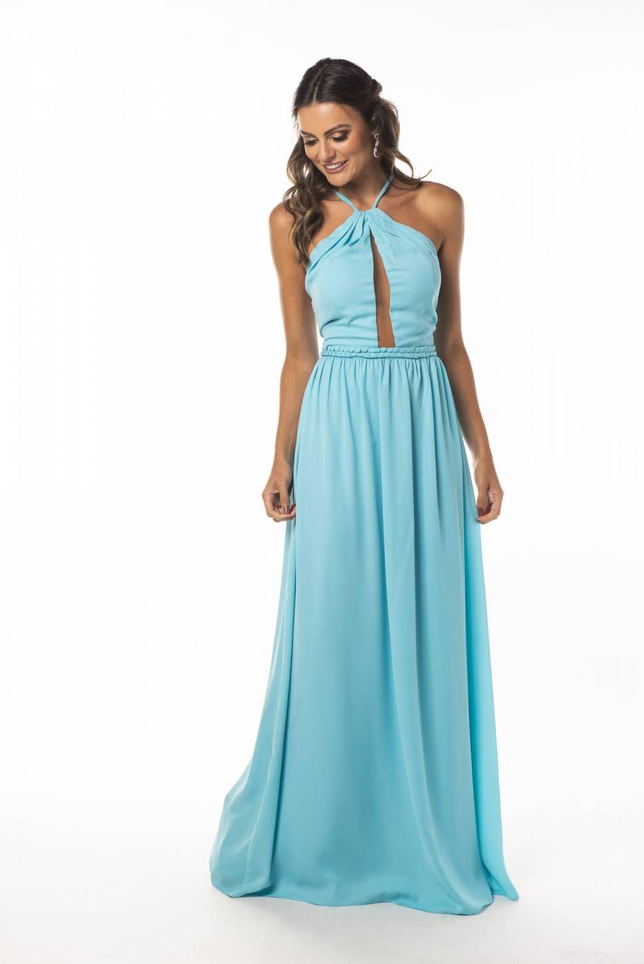 Vestido Toledo Azul Celeste