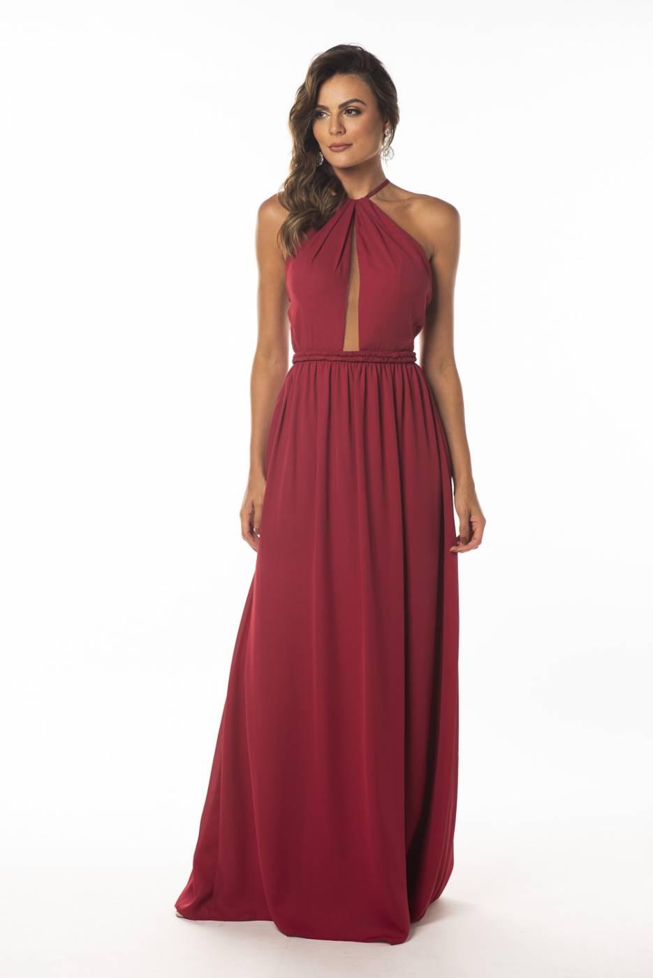 Vestido Toledo Marsala