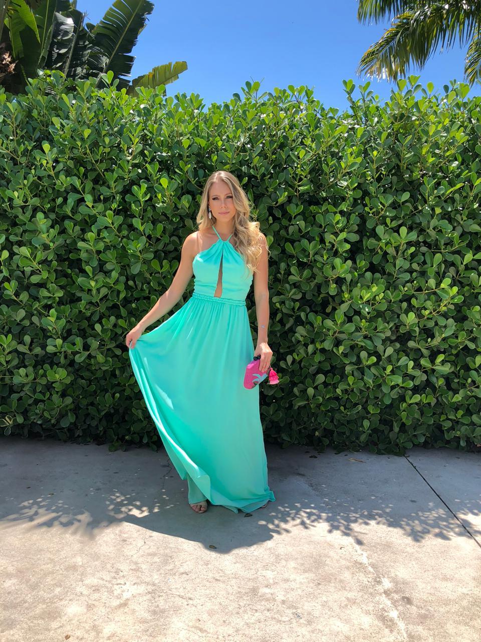 Vestido Toledo verde Tiffany