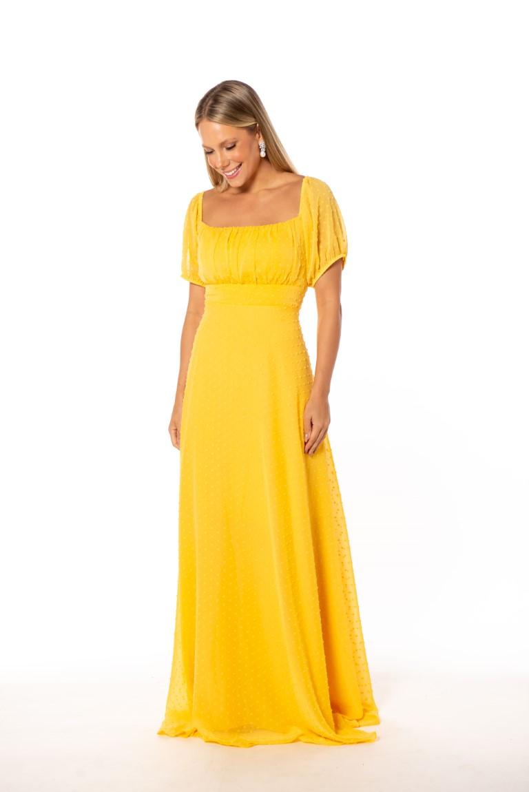 Vestido Uruguai Amarelo Plus Size