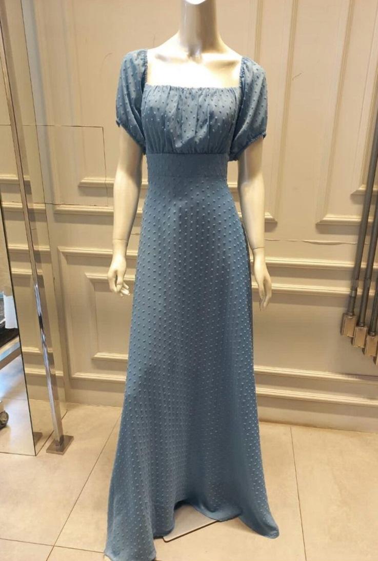Vestido Uruguai Azul Serenity Plus Size