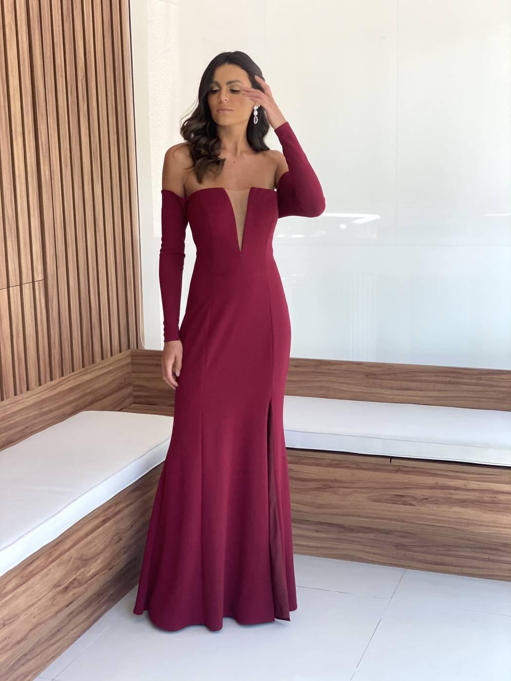 Vestido Zurique Marsala