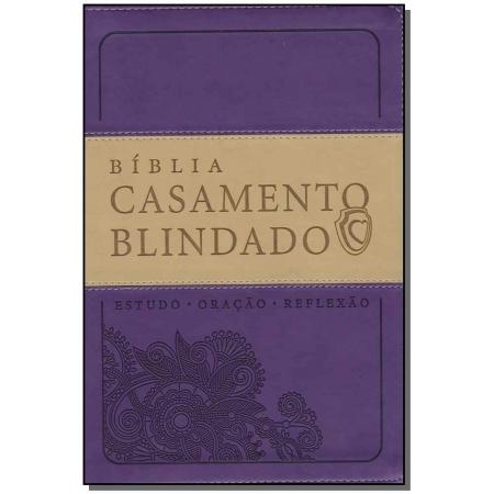 Bíblia Casamento Blindado Capa Roxa