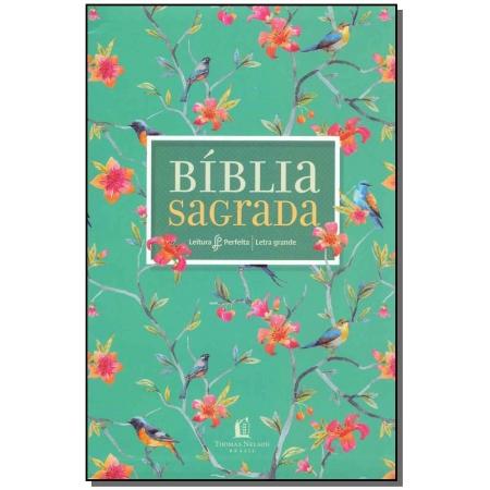 Bíblia Sagrada - Capa Flores - Letra Grande
