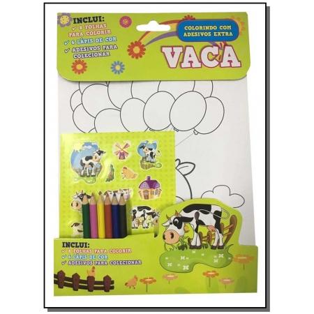 Colorindo Com Adesivos - Vaca
